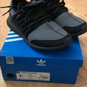 Adidas Black Tubular Radial Sneakers